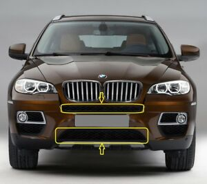 Genuine-BMW-X6-E71-E72-HYB-08-14-PARACHOQUES-DELANTERO-NEGRO-rejillas-Inferiores-Superior