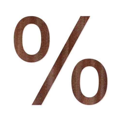 inkl Holz Zahlen aus dunklem Echtholzfurnier Satz- und Sonderzeichen Arial