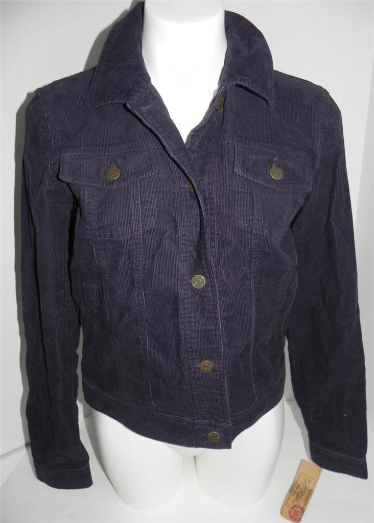 Ralph Lauren violet velours Regent ROYAL en Velours Côtelé Veste En Jean S