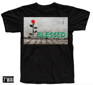 """/""""BLESSED/"""" SHIRT IN FOAMPOSITE GORGE GREEN GYM RED COLORWAY RETRO"""