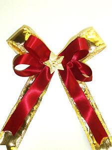 10 Weihnachtsschleifen Christbaumschmuck Weihnachten Schleifen creme gold