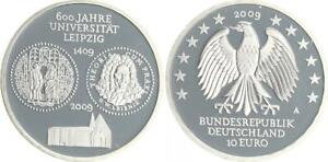 Uni Leipzig 2009 Mint Mark A Proof, IN Coin Capsule