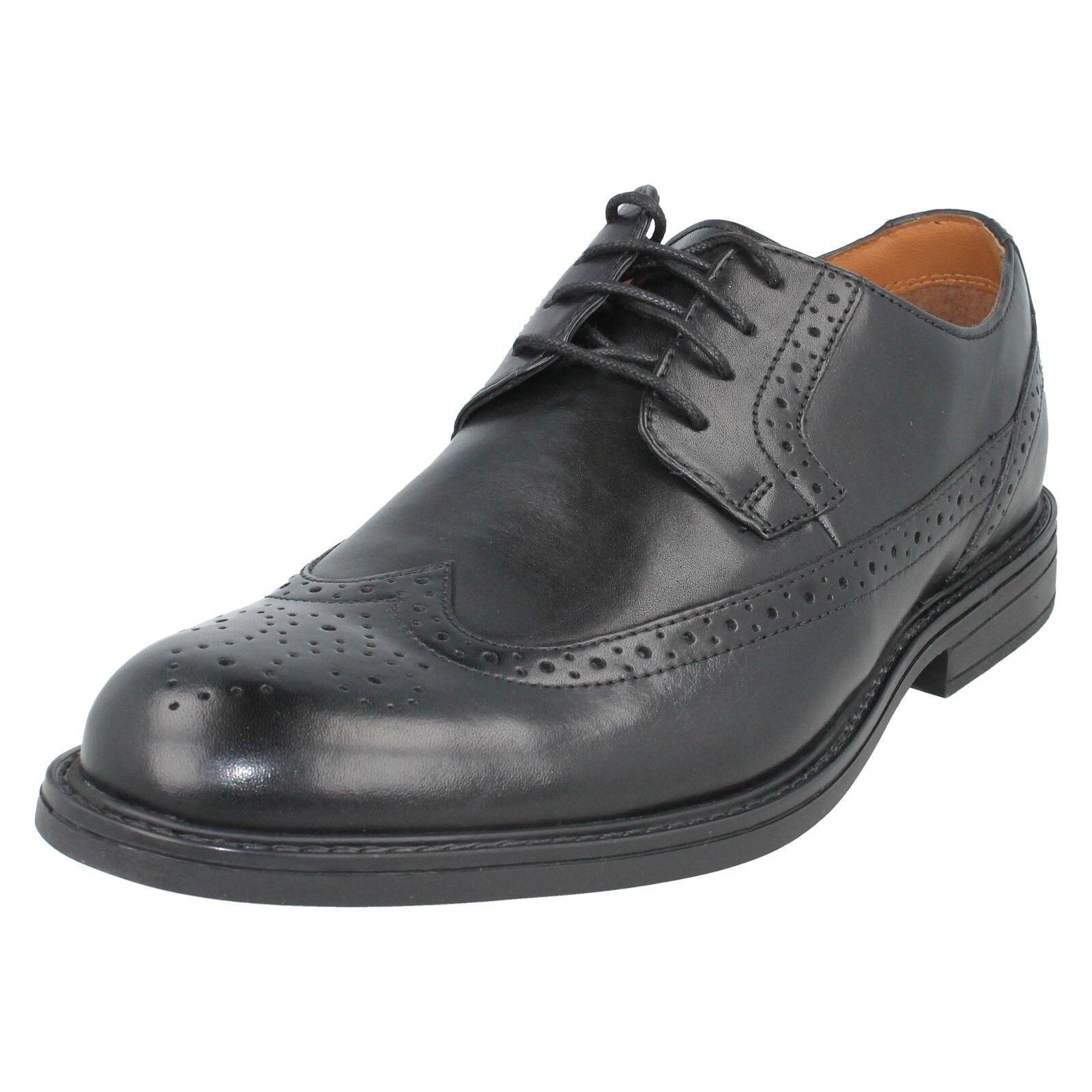 Herren Clarks Schnürsenkel Leder Works formelle Halbschuhe Derby Schuh Größe