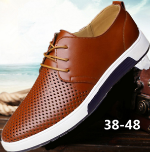 British-Men-Casual-Genuine-Leather-Shoes-Lace-up-Sneakers-Oxford-Lot-reathable