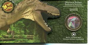 Canada-2010-3D-Moving-Lenticular-50-Cent-Coin-Dinosaur-Albertosaurus