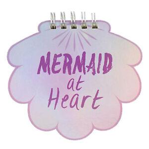 Meerjungfrau-bei-Herz-Mini-Spiral-Notizbuch-Kinder-Maedchen-Schillernd-Nachricht