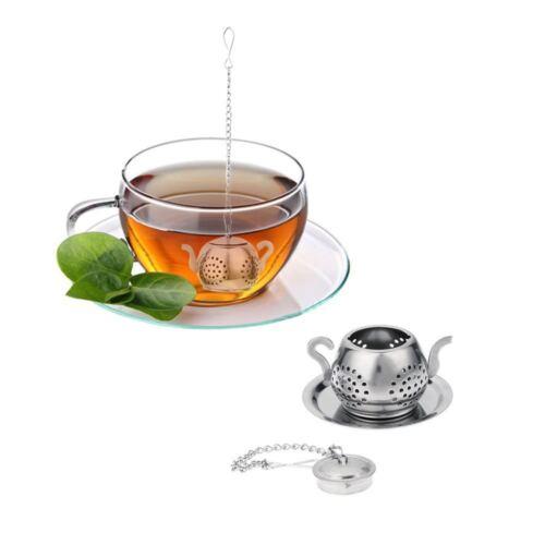 Acier Inoxydable Passoire à Thé Infuseur Filtre loose Herb Leaf Steeper Diffuseur