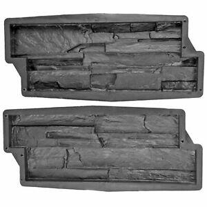 2-er Schalungsform Gießform Beton Form Wandverkleidung Schiefer-Struktur Klinker