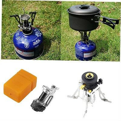 Folding Mini Camping Survival Cooking Furnace Stove Gas Burner Outdoor BH