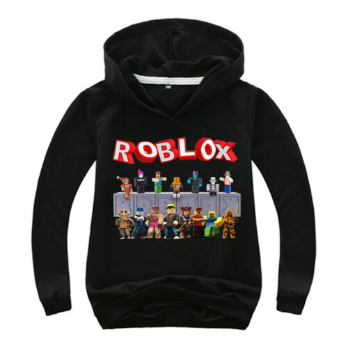 Roblox Game Girls Boy Kids Hooded Top T-shirt Thin Hoodie Jumper Cartoon Clothes