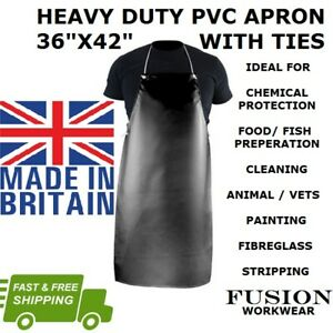 APRON BLACK PVC,HEAVY DUTY 42 X 36,WITH TIES,BLACK, RUBBER APRON.FOOD,CHEMICAL