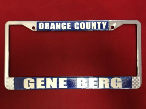 Gene BERG Number Plate Surround-Bleu