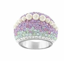 NIB $199 Swarovski Calista Chic Ring Watercolor Pearl Size 55/us 7/M #5118236