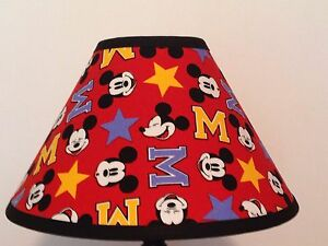 Disney mickey mouse fabric childrens lamp shade ebay image is loading disney mickey mouse fabric children 039 s lamp aloadofball Images