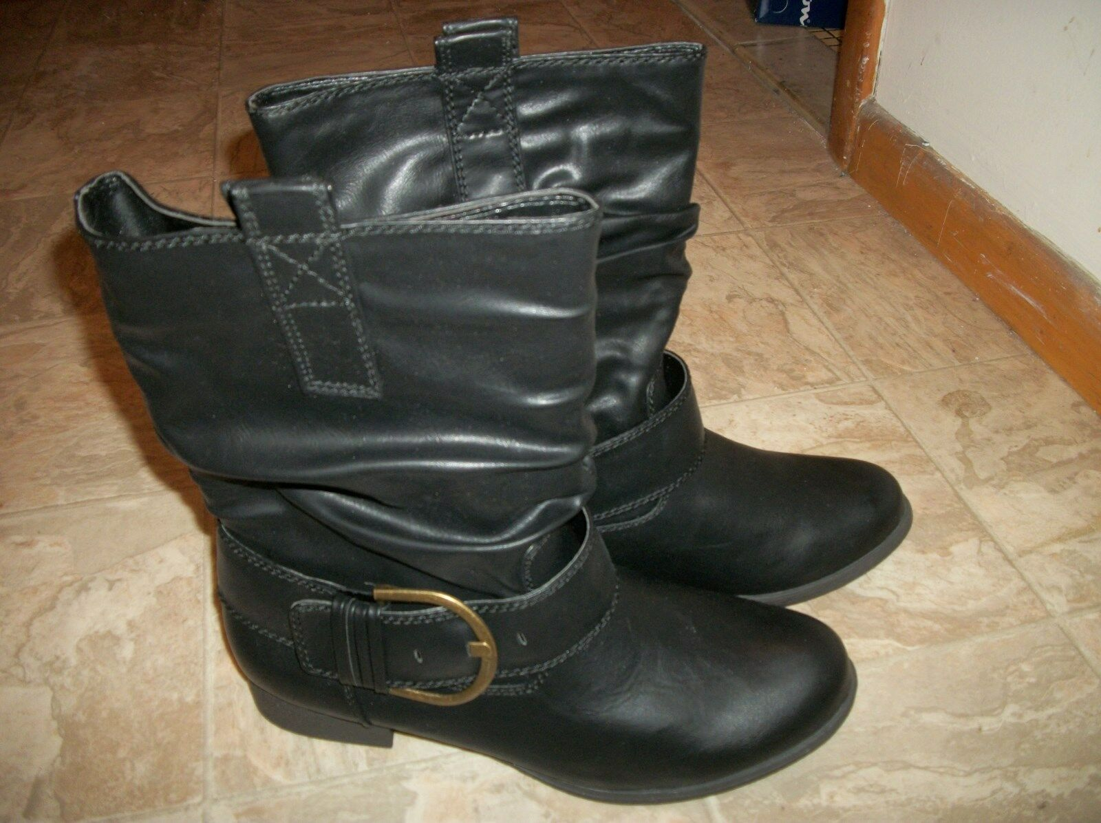 NEW BRASH SHORT PACEY PACEY PACEY BOOTS W  BUCKLE  BLACK OR BROWN WOMEN'S SHOES SIZE 13 f2c183