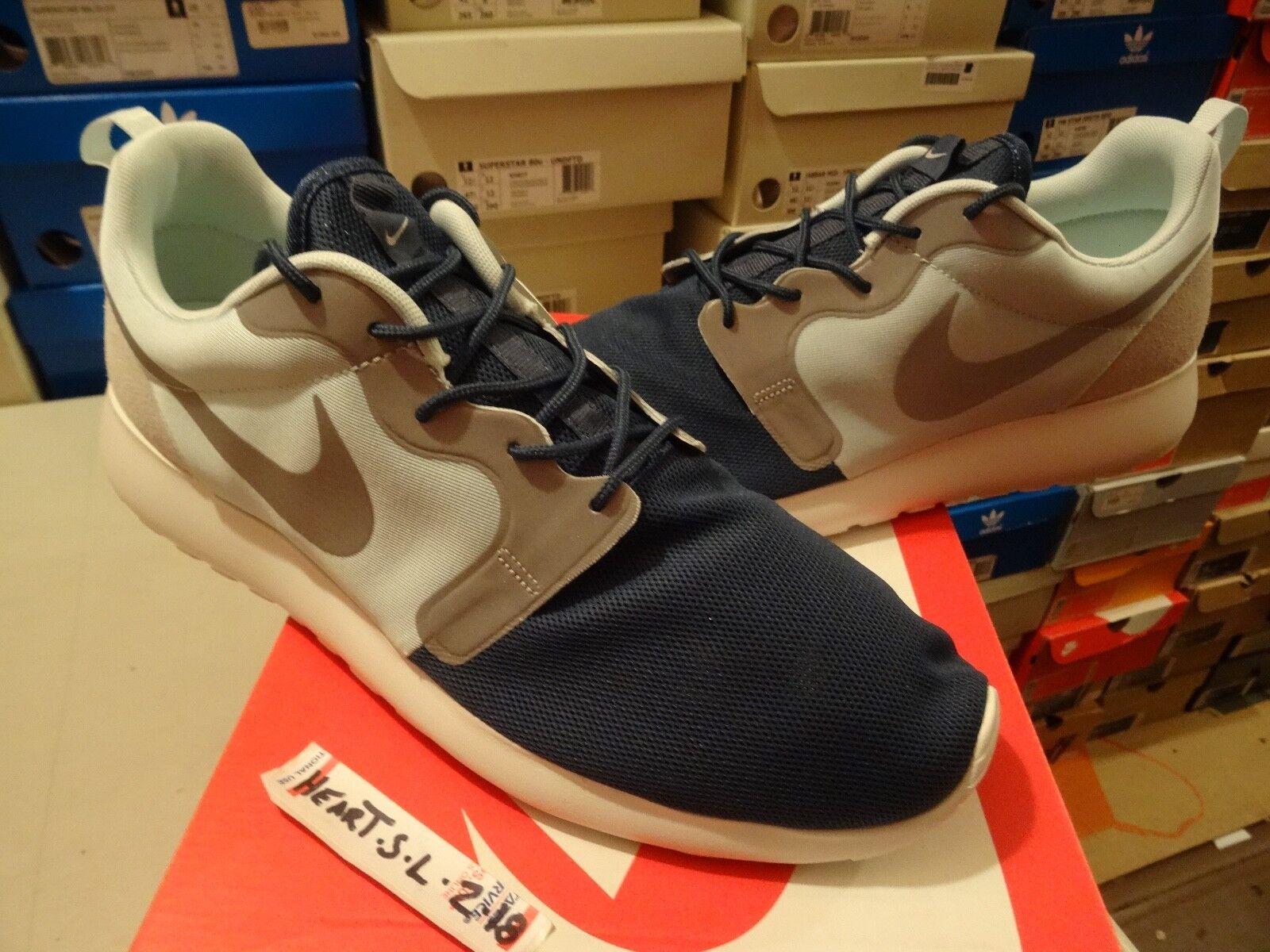 NEW Nike AIR MAX Roshe Hyperfuse QS Rosherun Navy bluee 1 Grey 616325-341 SZ 13