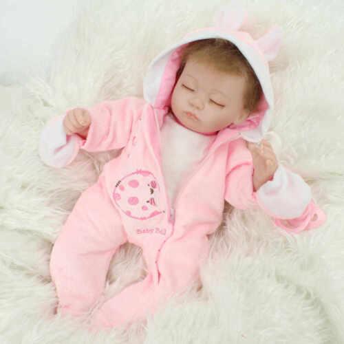 Sleeping Newborn Realistic Reborn Dolls Silicone Vinyl Handmade Baby Dolls Toys