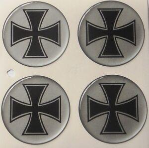 IRON CROSS 4x56mm Aufkleber Nabendeckel Felgendeckel Nabenkappen Wheel Stickers