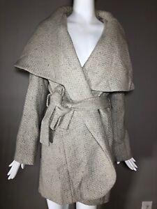 T-Tahari-Women-039-s-Marla-Wool-Oversized-Shawl-Collar-Winter-Wrap-Coat-Size-M-400
