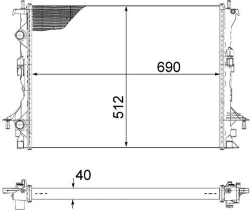 WASSERKÜHLER KÜHLER MOTORKÜHLER RENAULT VEL SATIS 2.0DCI 3.0DCI 8200433512
