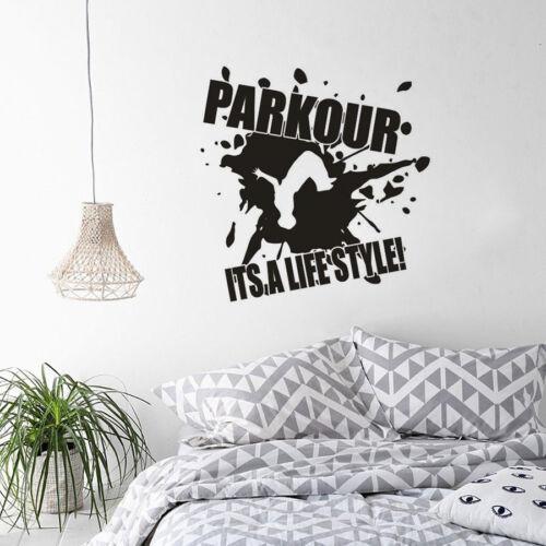 Boys Girls Parkour Free Running Extreme Sport wall Art Vinyl Decal Sticker V290