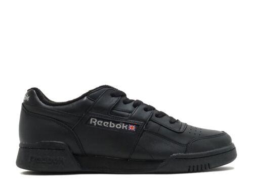 Reebok Workout Plus Vintage Trainers Mens Black Sneakers Gym Shoes Footwear