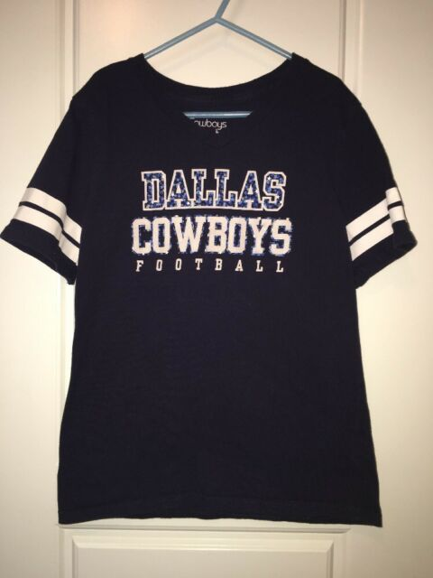 8187d5256 Dallas Cowboys Her Style Size Large 12-14 Football Navy Blue Shirt Youth 10  Girl