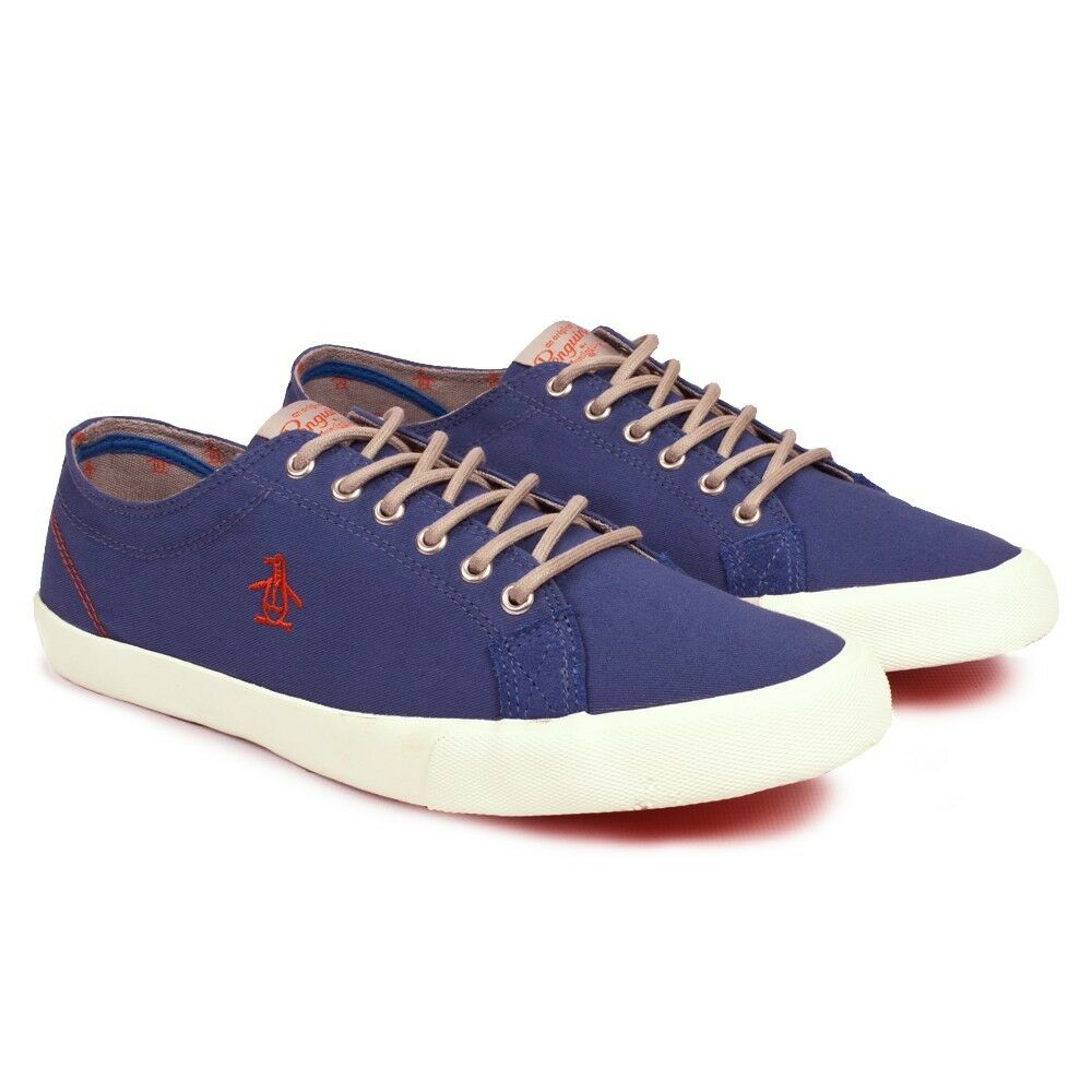 Mens Original Penguin Byron Snorkel bluee Plimsoll shoes  c12