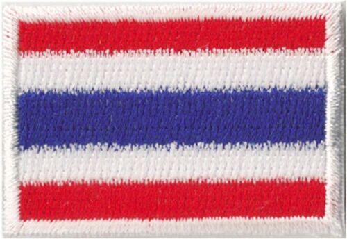 Piccolo Stemma Thailandia Tailandese Toppa Termoadesivo Paese Toppa 45x30 MM