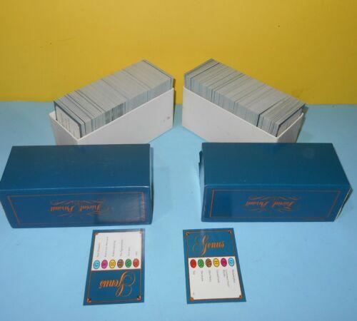 Corneta 1981 Original abett Trivial Pursuit Genus Conjunto de cartão para qualquer jogo Master