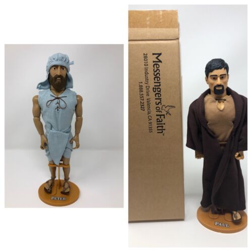 Talking Simon Peter et apôtre Paul messagers de Foi Bible Figure Poupées