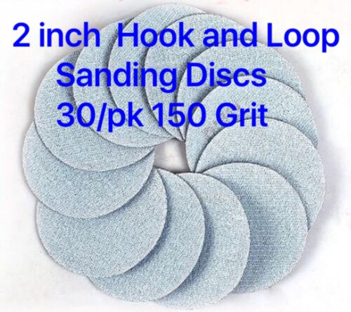 2 inch 150 Grit Wet//Dry Hook and Loop Sanding Discs 30//pk