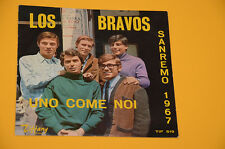 "LOS BRAVOS 7"" 45 (NO LP ) UNO COME NOI 1°ST ORIG BEAT 1967 SOLO COPERTINA EX"