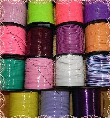 15 Neon /& Glow Colors ~ 2 YDs Each ~ 30 YDs Rexlace Gimp Plastic Lace Boondoggle