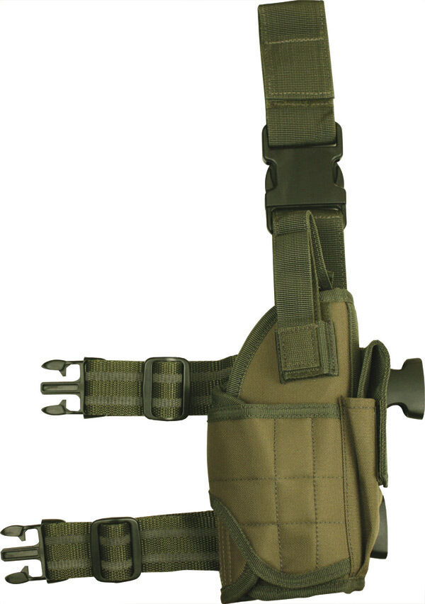 universel réglable réglable universel pistolet Holster Olive tombant jambe paintball airsoft armée f66690