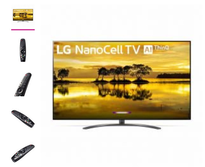 LG 75 Class 9 Series 4K (2160P) Ultra HD Smart LED HDR NanoCell TV 75SM9070PUA . Available Now for 850.00