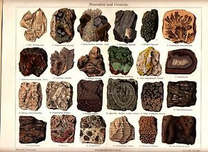 1887-MINERALS-STONES-CRYSTAL-Antique-Chromolithograph-Print