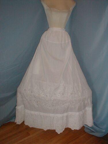 Antique Dress Petticoat Victorian 1890's Embroider