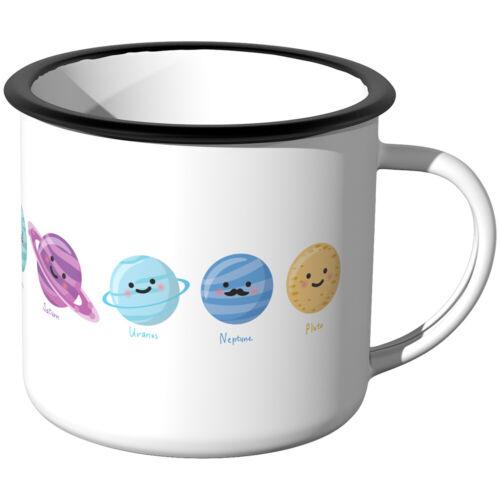 Planeten Sonnensystem JUNIWORDS Emaille-Tasse Planetentasse Planetenbecher