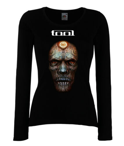 DAMEN WOMEN LADY BLACK T-SHIRT TOOL 3 HEAVY METAL ROCK LANGARM//KURZARM
