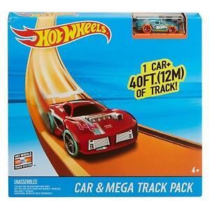 Hot-Wheels-Car-amp-Mega-Track-Pack-Disenador-De-Ninos-Chicos-Racing-Juguete-Regalo-40-pies