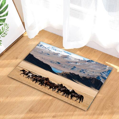 Mongolian Horses Running Kitchen Bath Bathroom Shower Floor Home Door Mat