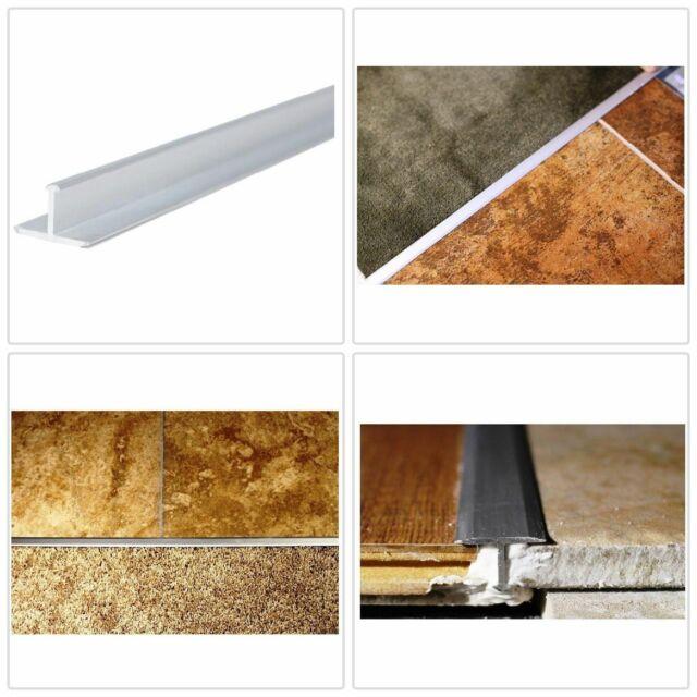 Tile Edging Trim Aluminum T Shaped Floors Tiles Edges Protection Satin Silver For Sale