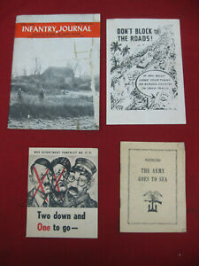Lot-of-4-Original-WWII-War-Department-Hand-Outs