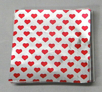 "Straightforward Valentines Heart Candy Foil Wrappers Confectionery Foil 500 Ct 3""x3"" 4x4"" 6""x6"" Buy Now Kitchen, Dining & Bar"