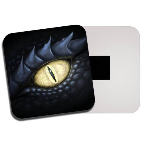 Dragon Noir Yeux aimant de réfrigérateur-Serpent Serpent Mythique Teen Gamer Cadeau #8799