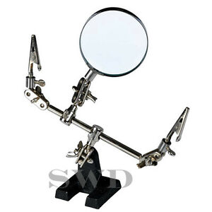 Helping-hand-magnifier-glass-third-hand-soldering-hands-free-magnifying-hobby
