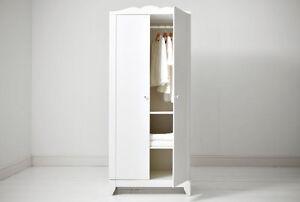 ARMADIO GUARDAROBA 2 ANTE CON APPENDIABITI IKEA HENSVIK | eBay