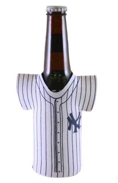 2 NEW YORK YANKEES BEER SODA WATER BOTTLE JERSEY KOOZIE HOLDER MLB BASEBALL