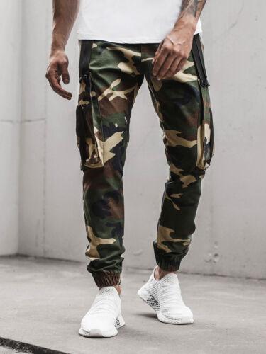 Chino Pants Clubwear Straight Jogger Slim Fitness Jogging Pantaloni OZONEE o//11102 Uomo